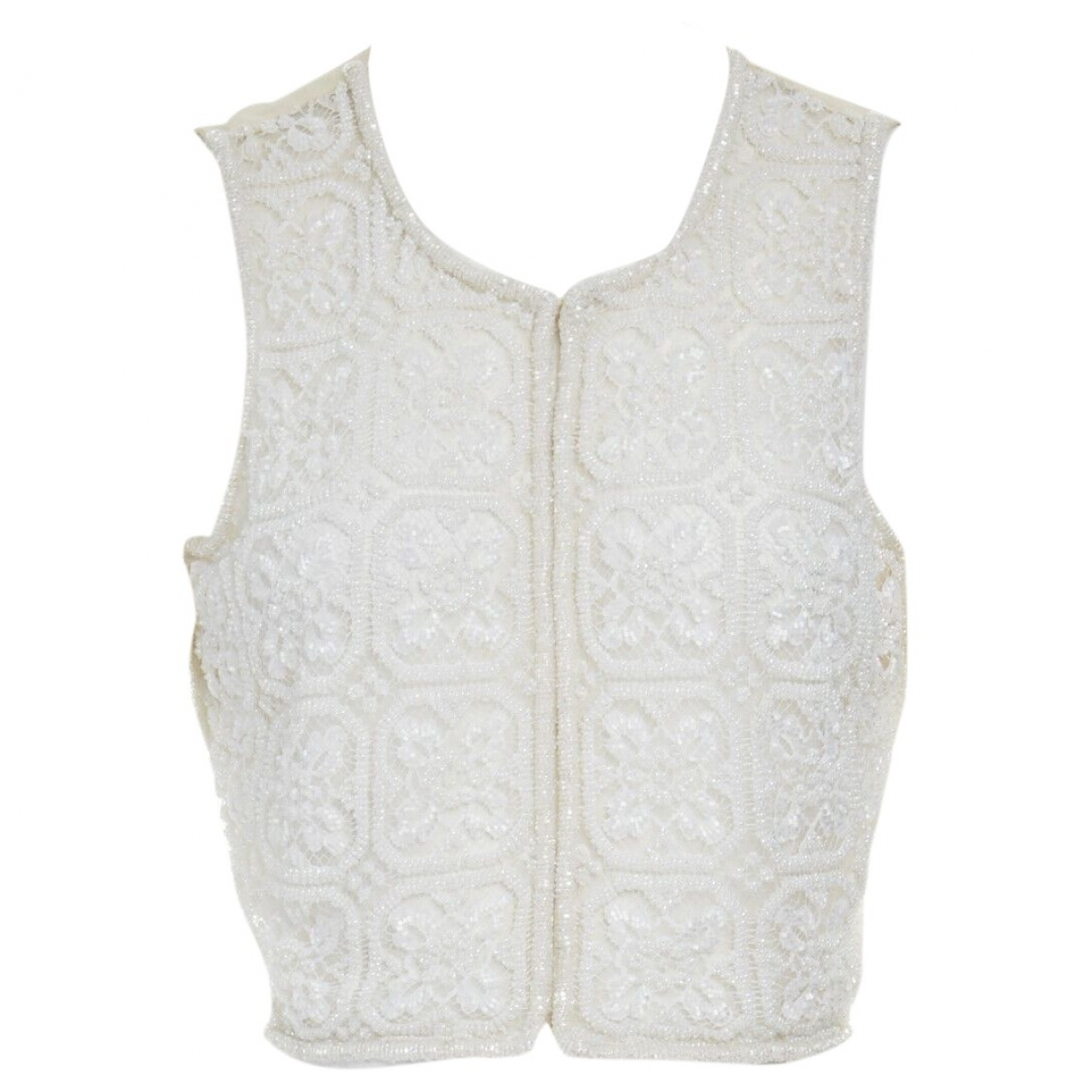 Giorgio Armani \N White Silk  top for Women 40 IT