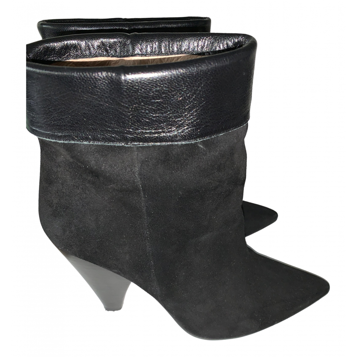 Jonak N Black Leather Ankle boots for Women 40 EU