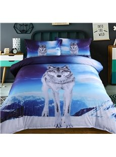 Vivilinen 3D Wolf under the Sky Printed 5-Piece Comforter Sets