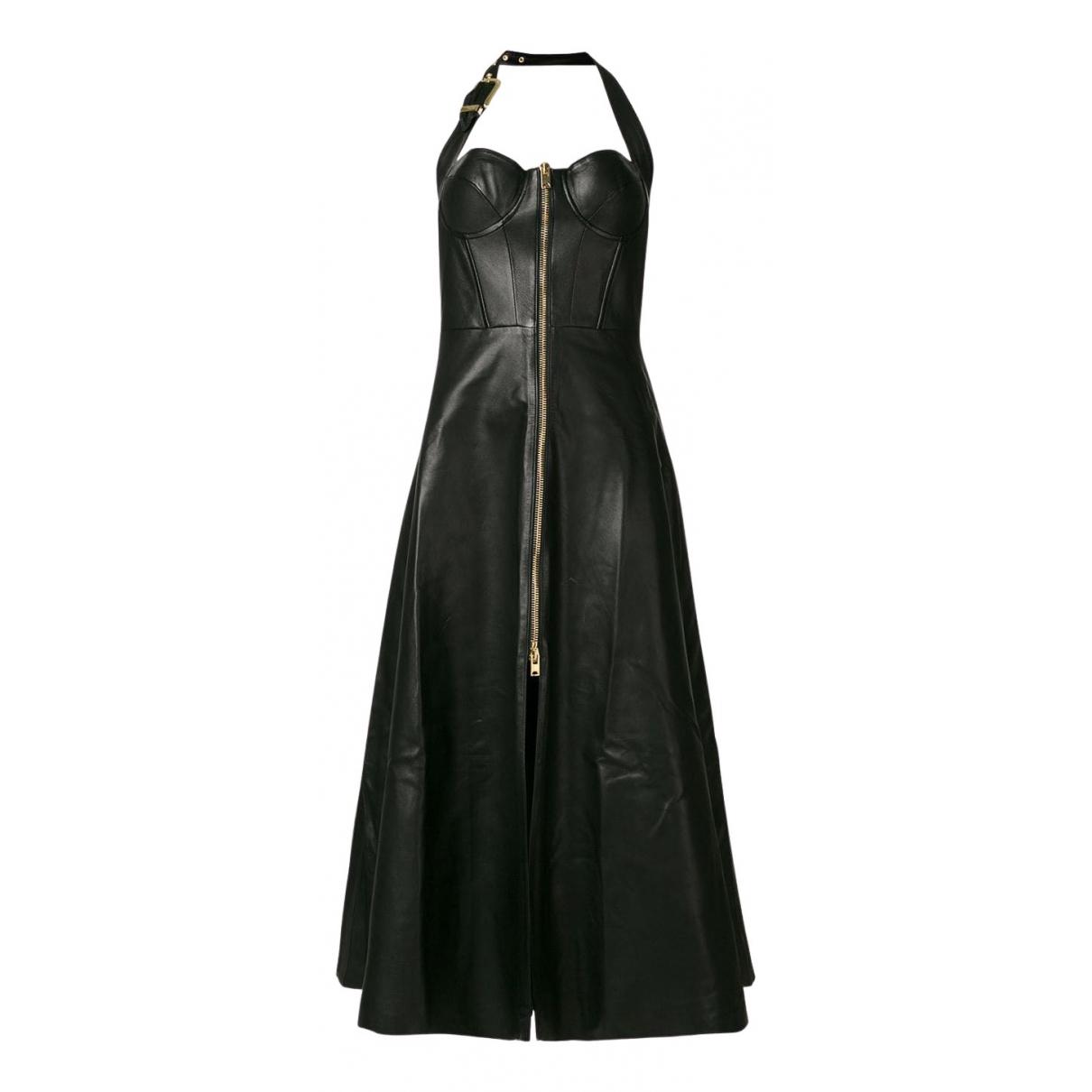 Natasha Zinko N Black Leather dress for Women 38 FR