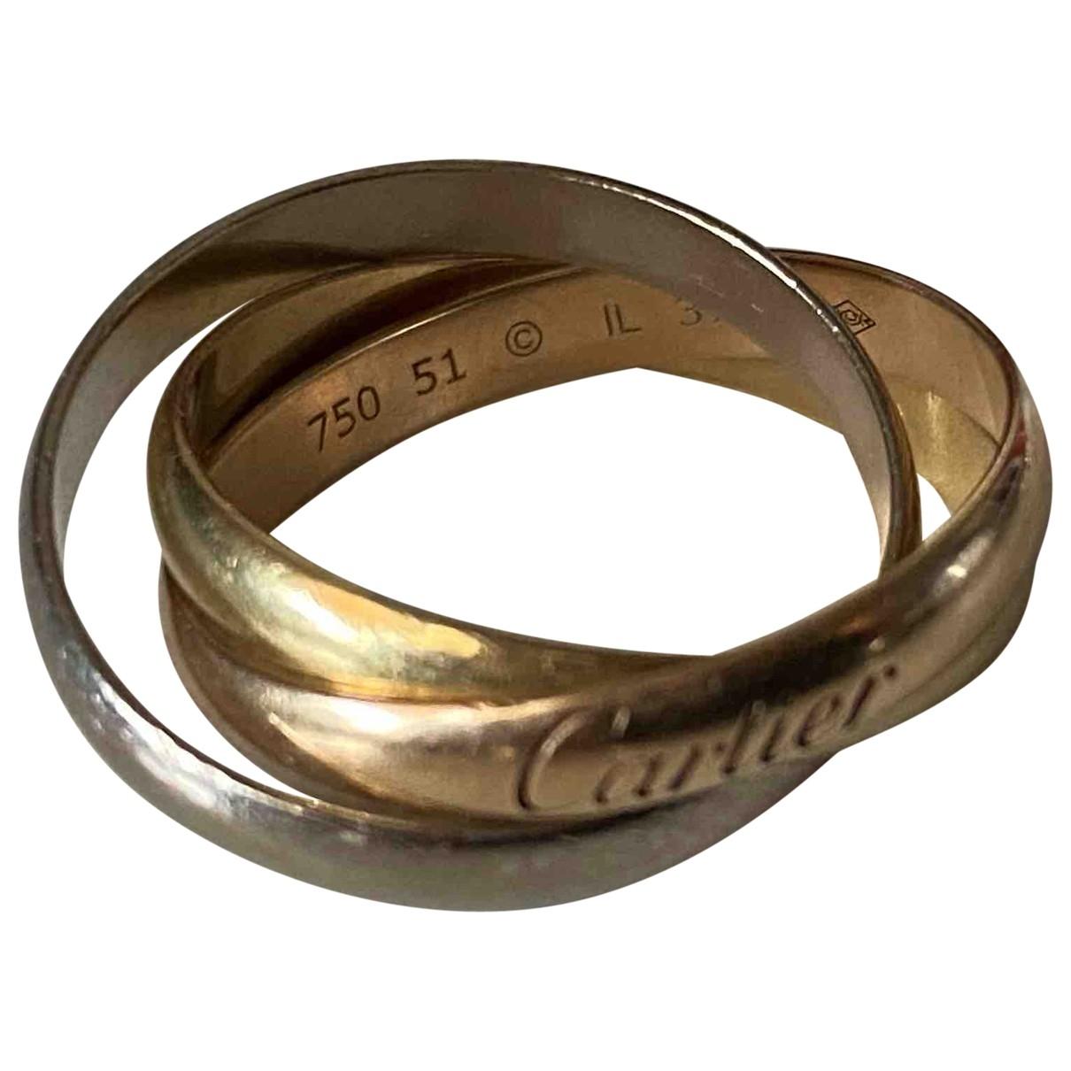 Cartier - Bague Trinity pour femme en or rose - dore