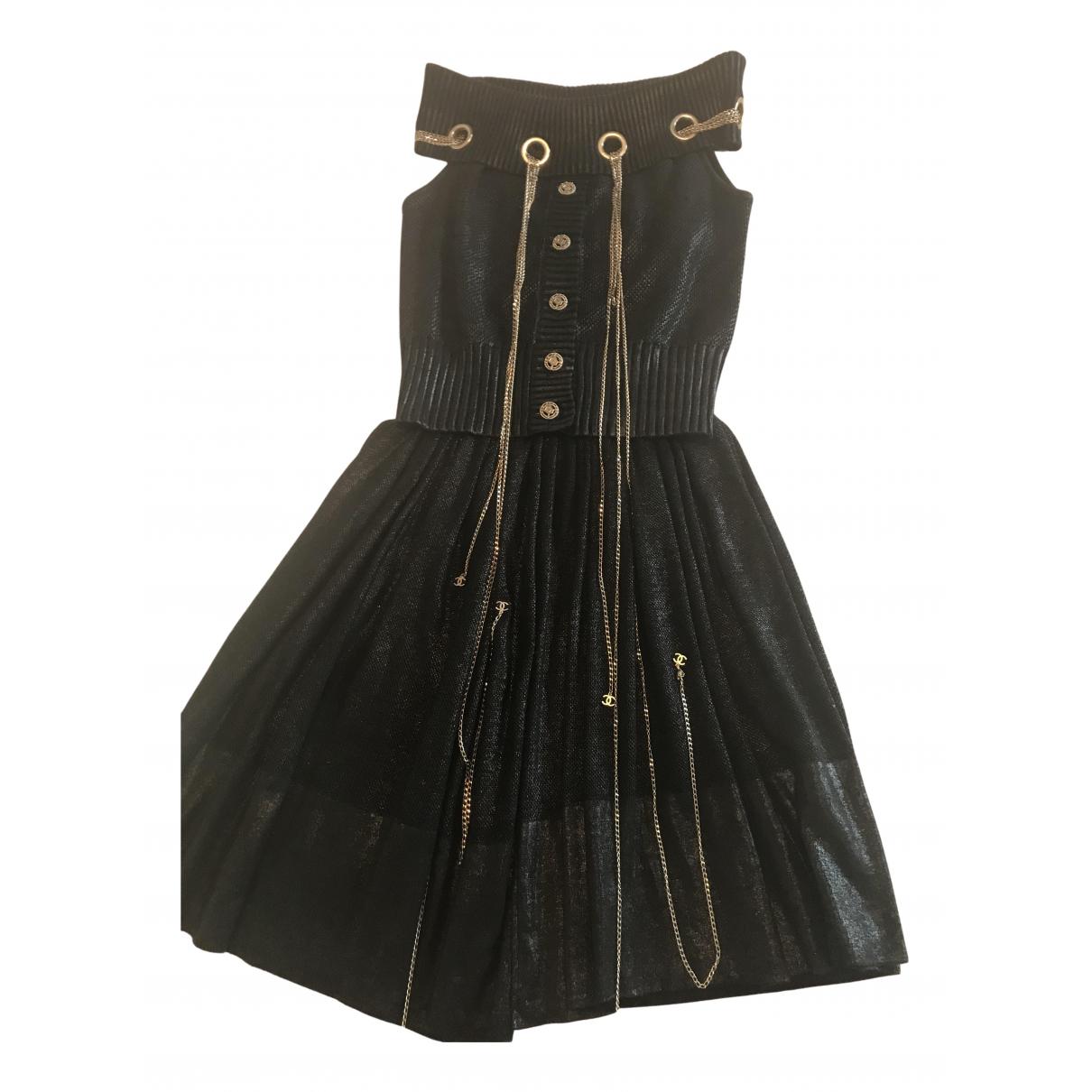 Chanel N Black Cotton - elasthane dress for Women 38 IT