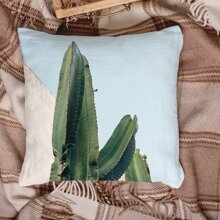 1pc Cactus Print Cushion Cover Without Filler