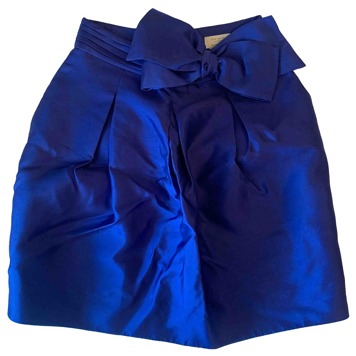 Kate Spade - Jupe   pour femme en soie - bleu