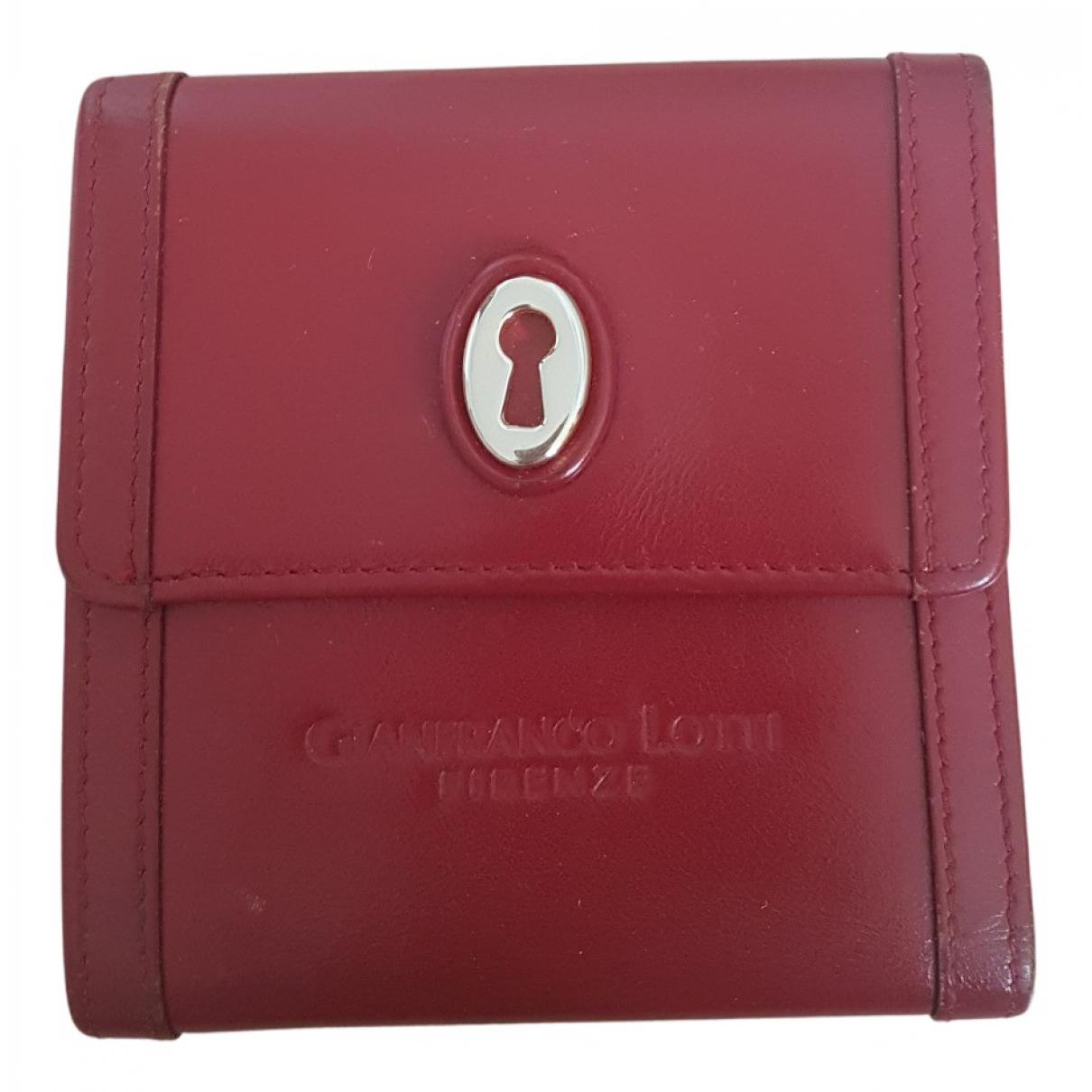 Gianfranco Lotti N Red Leather wallet for Women N