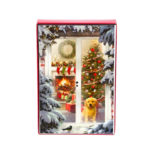 American Greetings® Cozy Dog Christmas Scene Box Of Cards   Michaels®