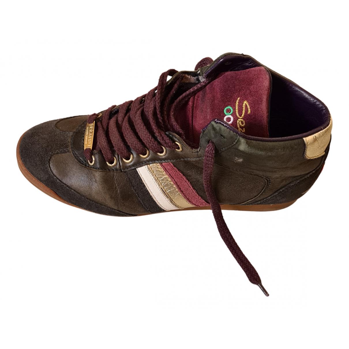 Serafini \N Sneakers in  Bunt Veloursleder