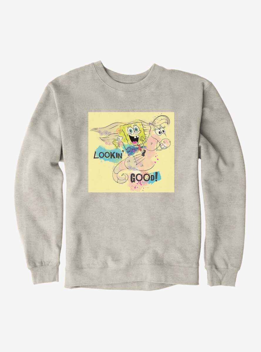 SpongeBob SquarePants Lookin' Good Seahorse Ride Sweatshirt