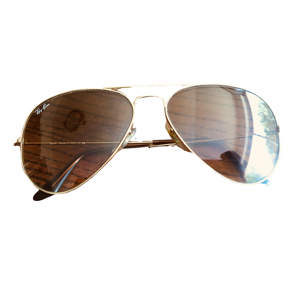 Ray-ban Aviator Sonnenbrillen in  Gold Metall
