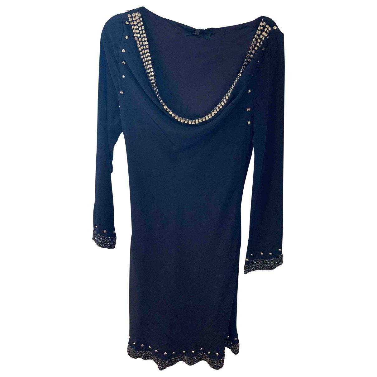 Bastyan - Robe   pour femme en soie - marine