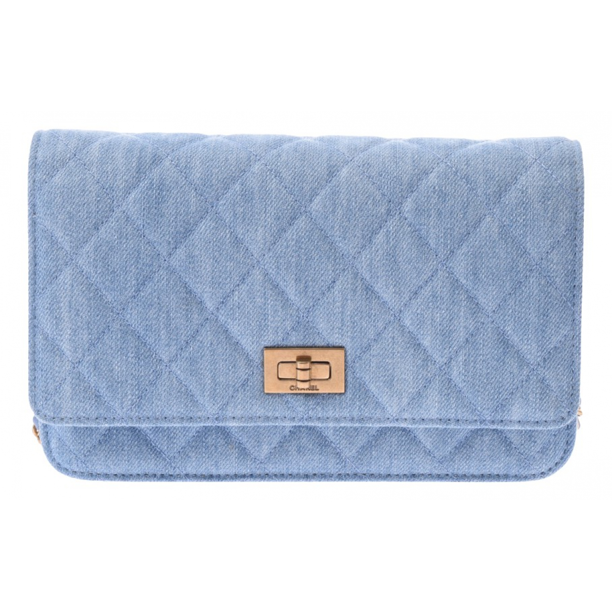 Chanel 2.55 Blue Denim - Jeans wallet for Women \N