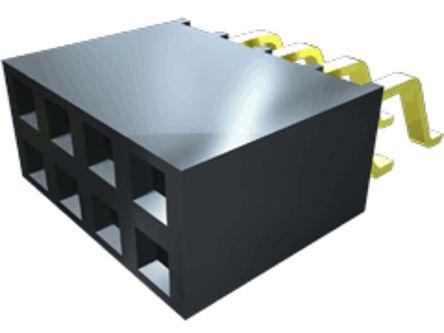Samtec , SMH 2.54mm Pitch 16 Way 2 Row Horizontal PCB Socket, Surface Mount, Solder Termination (27)