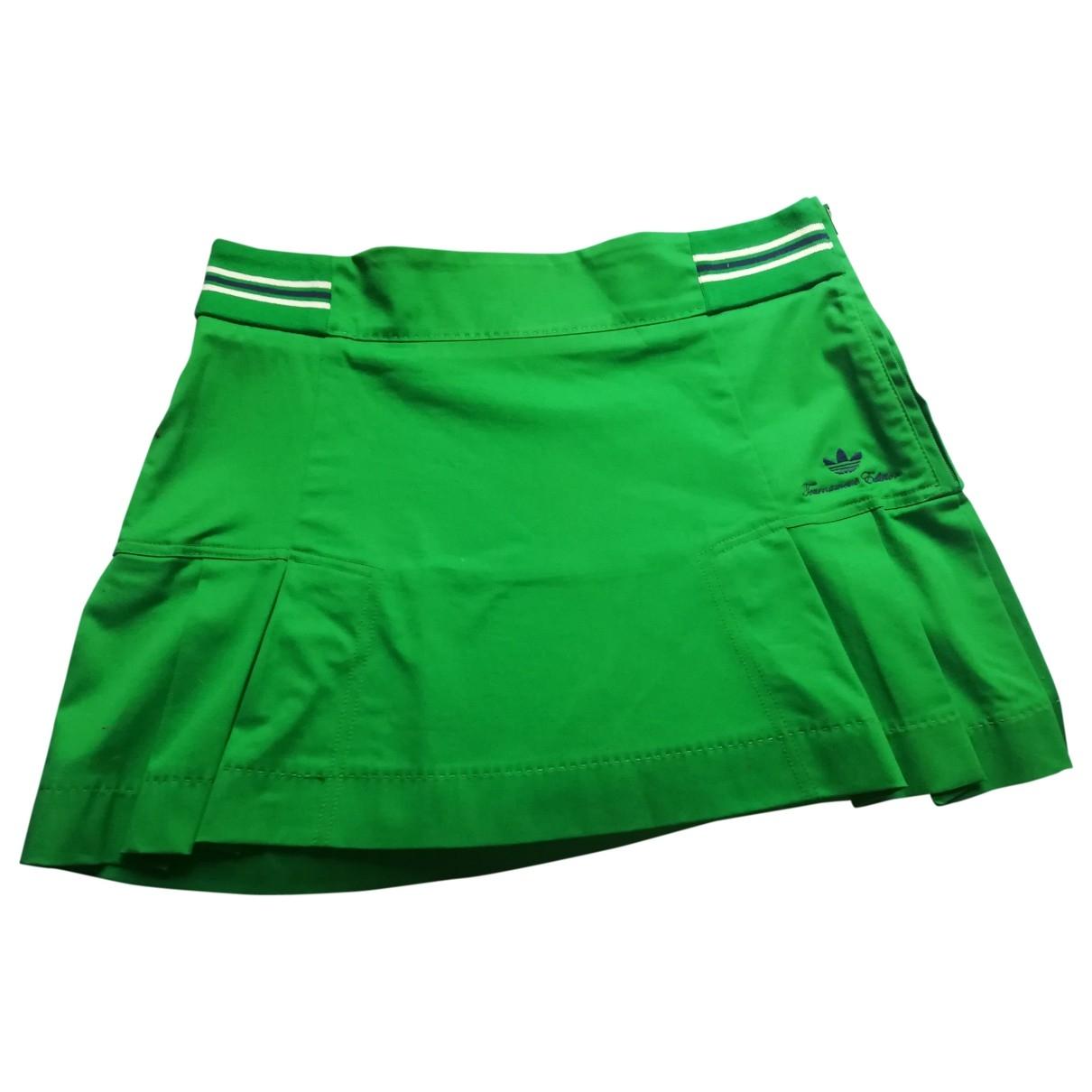 Adidas \N Green Cotton skirt for Women 34 FR