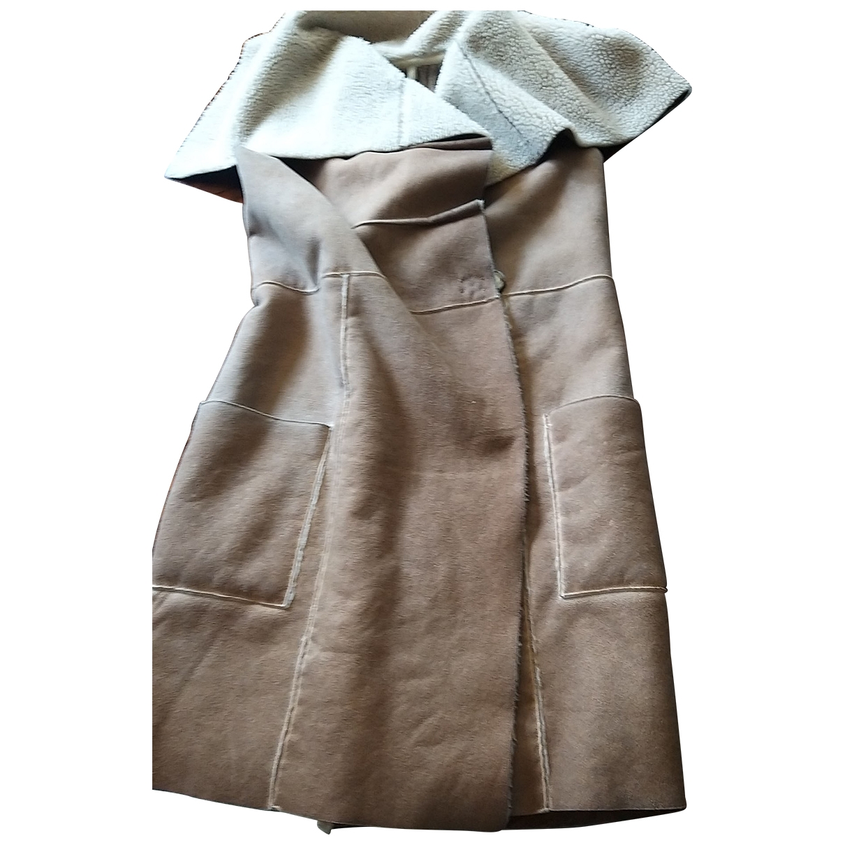 Non Signé / Unsigned \N Brown Wool jacket for Women 42 FR