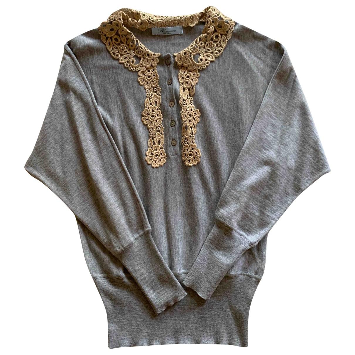 Blumarine - Pull   pour femme en laine - gris