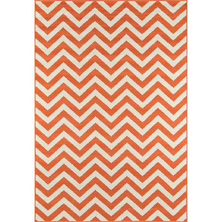 Momeni Baja Rectangular Indoor/Outdoor Rugs, One Size , Orange