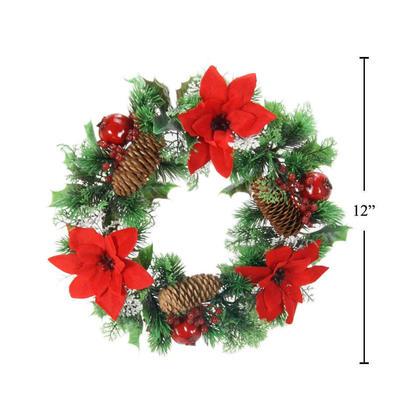 Décoration de Noël couronne de Noël poinsettia décorée 12