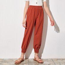 Girls Elastic Cuff Carrot Pants