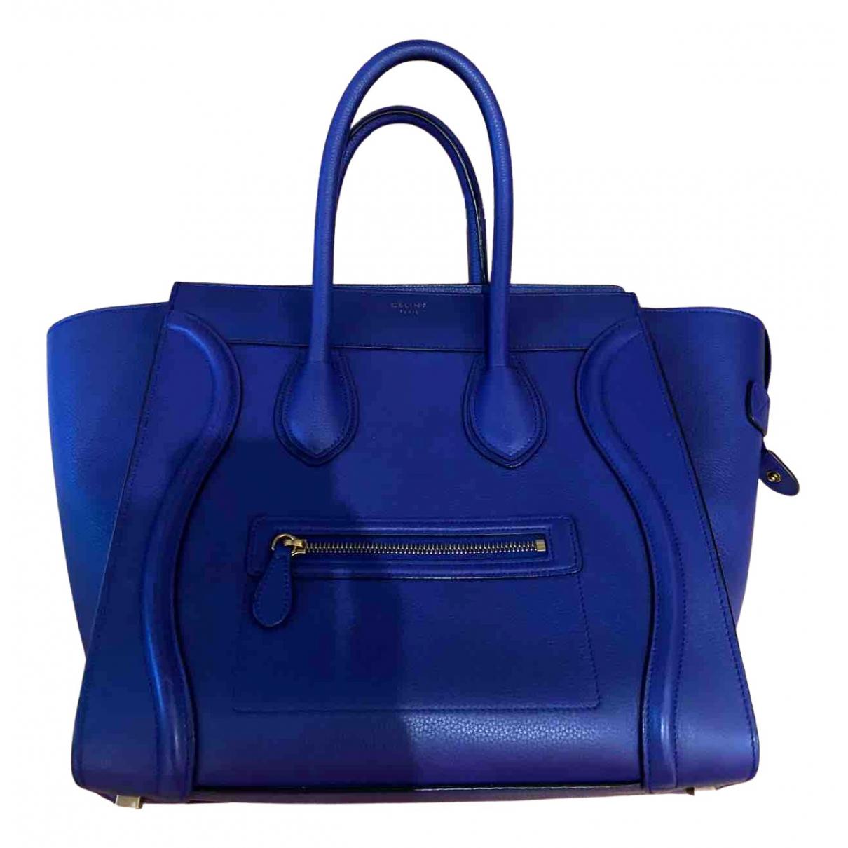 Celine Luggage Blue Leather handbag for Women N