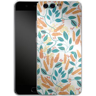 Huawei P10 Silikon Handyhuelle - Wild Leaves von Iisa Monttinen