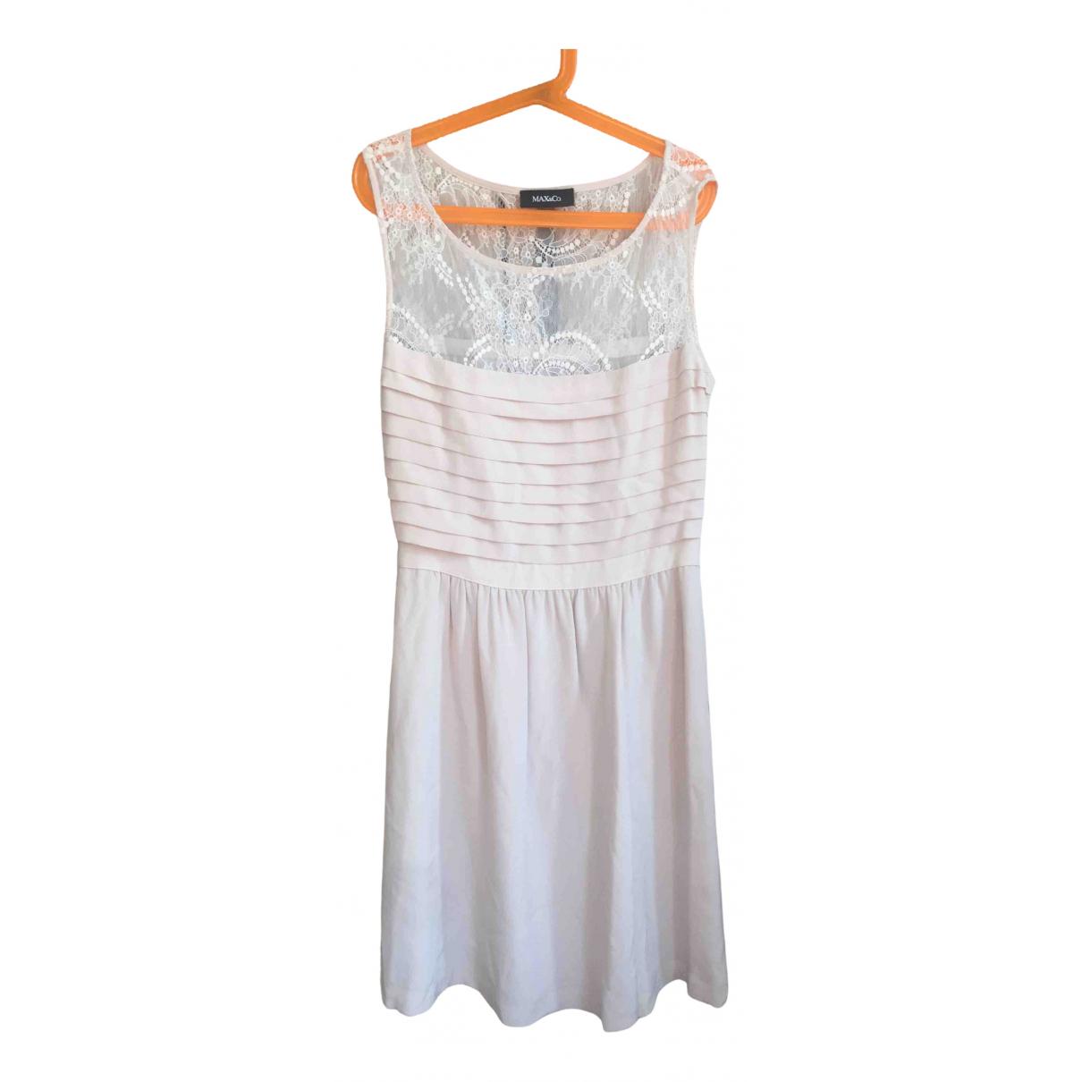 Max & Co \N Kleid in  Beige Seide