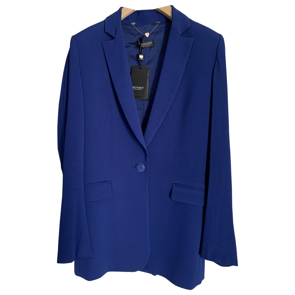 Twin Set \N Blue jacket for Women 42 IT
