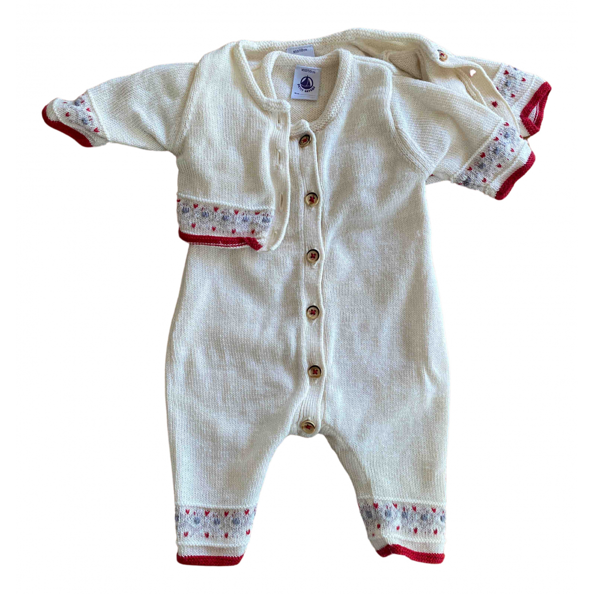 Petit Bateau \N Beige Wool Outfits for Kids 1 months - up to 55cm FR
