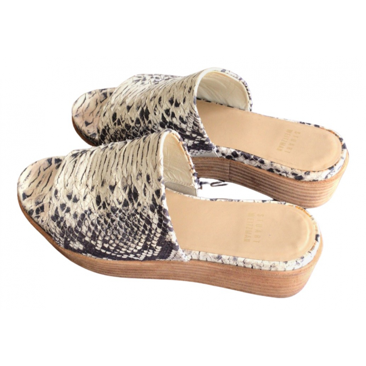 Stuart Weitzman \N Leather Sandals for Women 36.5 EU