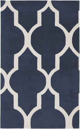 VOLVO213200570305 Volare VO2132-3' x 5' Hand-Tufted 100% Wool Rug in Navy  Rectangle