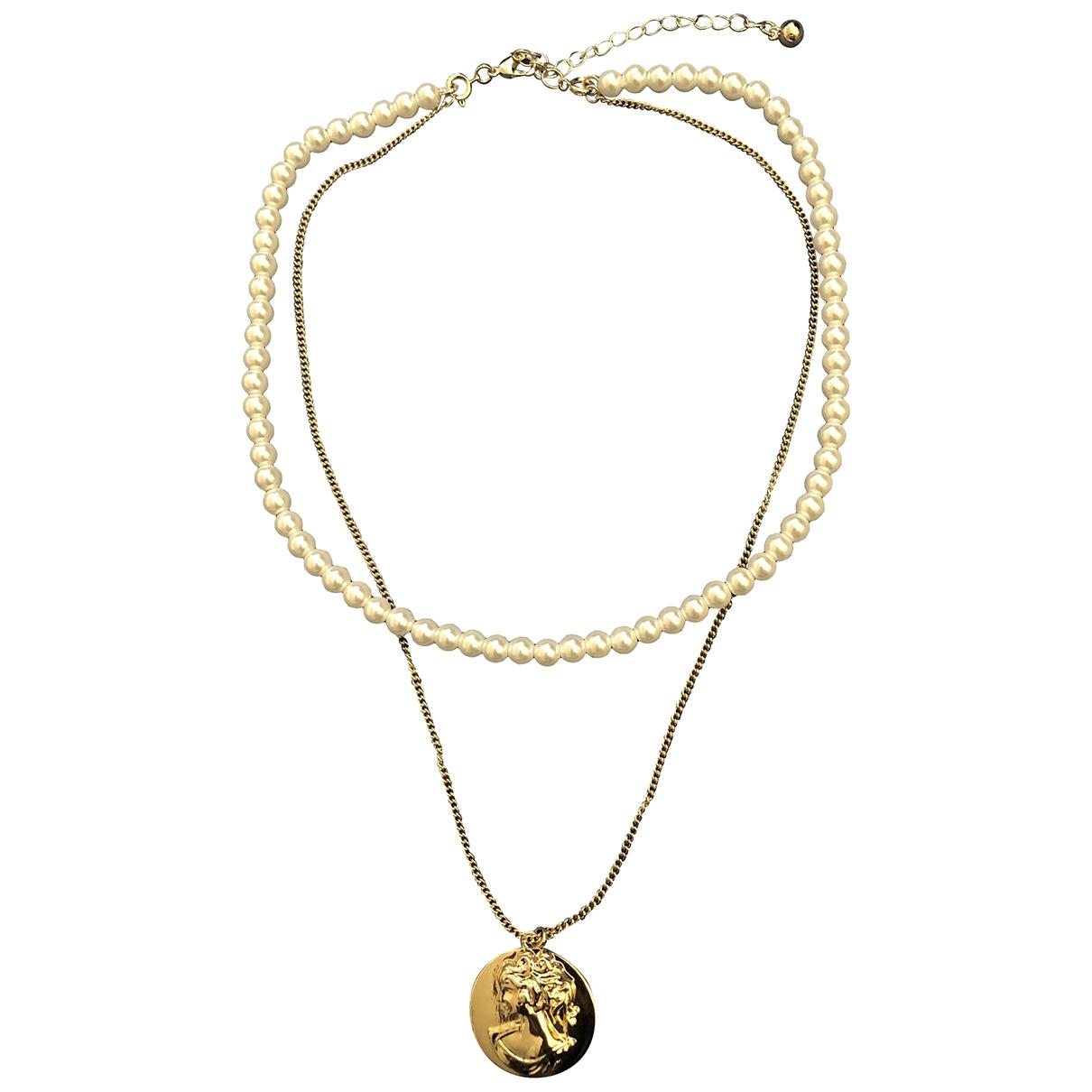 - Collier Medailles pour femme en metal - dore