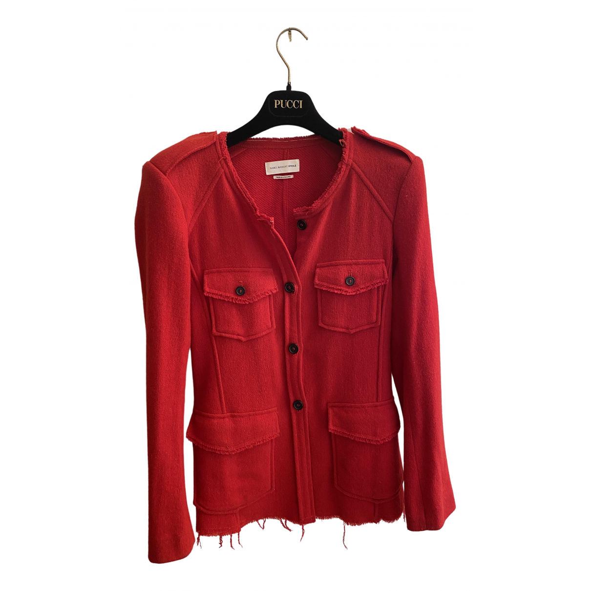 Isabel Marant Etoile \N Red Wool jacket for Women 36 FR