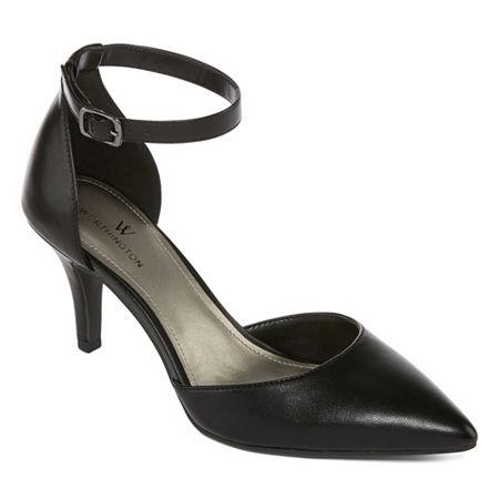 Worthington Womens Kasen Pumps Cone Heel, 9 1/2 Medium, Black