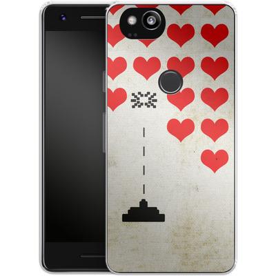 Google Pixel 2 Silikon Handyhuelle - Heart Attack von Claus-Peter Schops