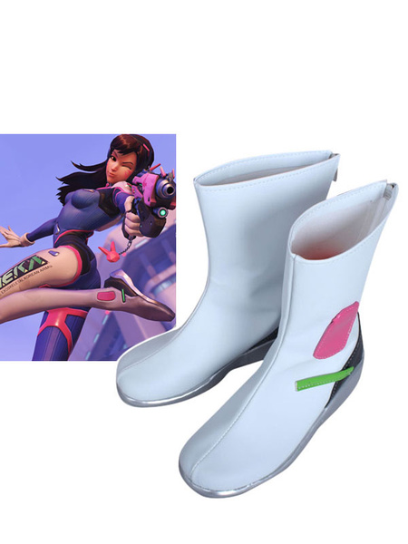 Milanoo Overwatch D.va Cosplay Shoes Halloween