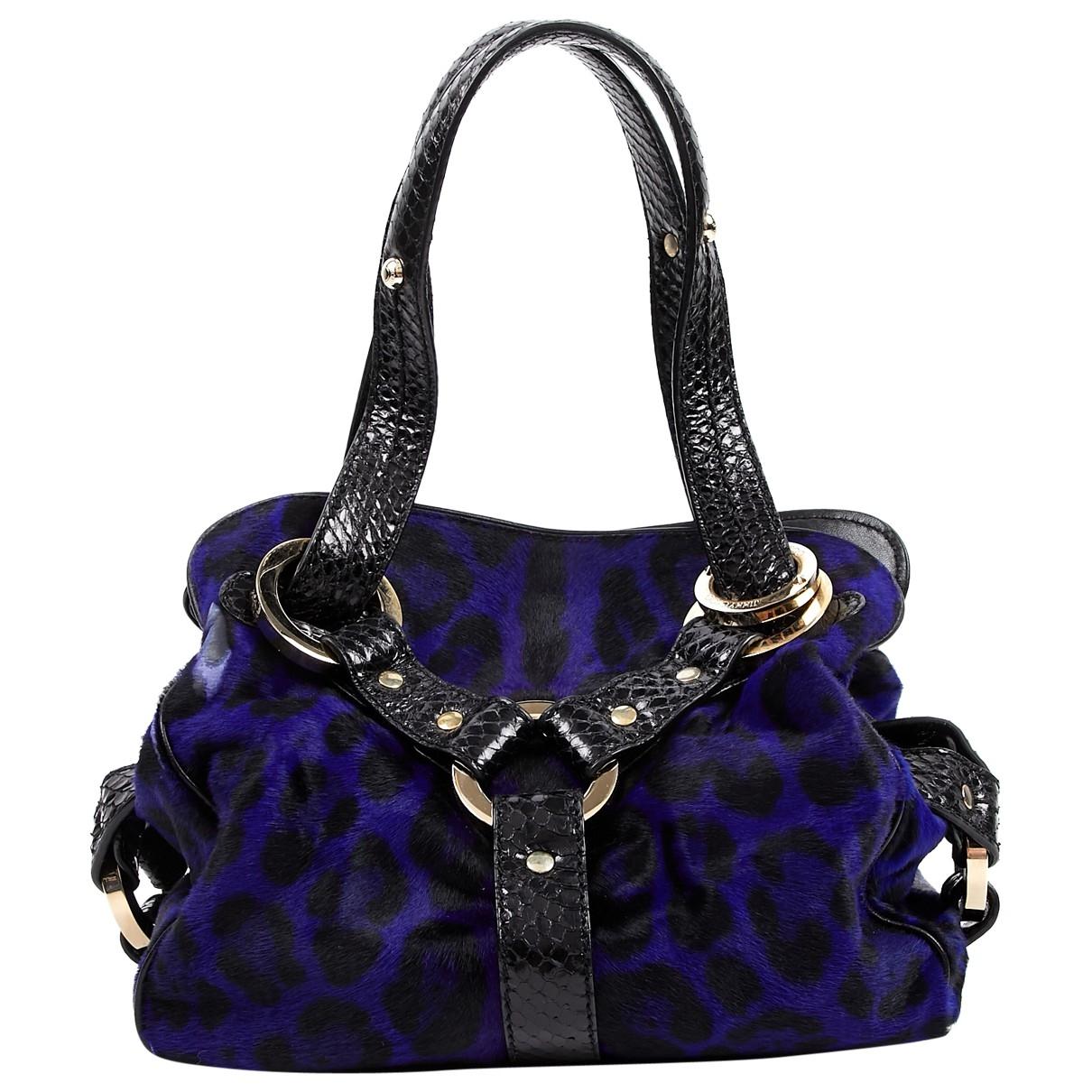 Jimmy Choo \N Blue Pony-style calfskin handbag for Women \N