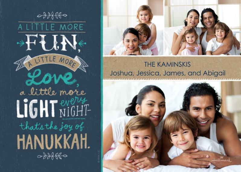 Hanukkah Photo Cards Flat Matte Photo Paper Cards with Envelopes, 5x7, Card & Stationery -Joy of Hanukkah