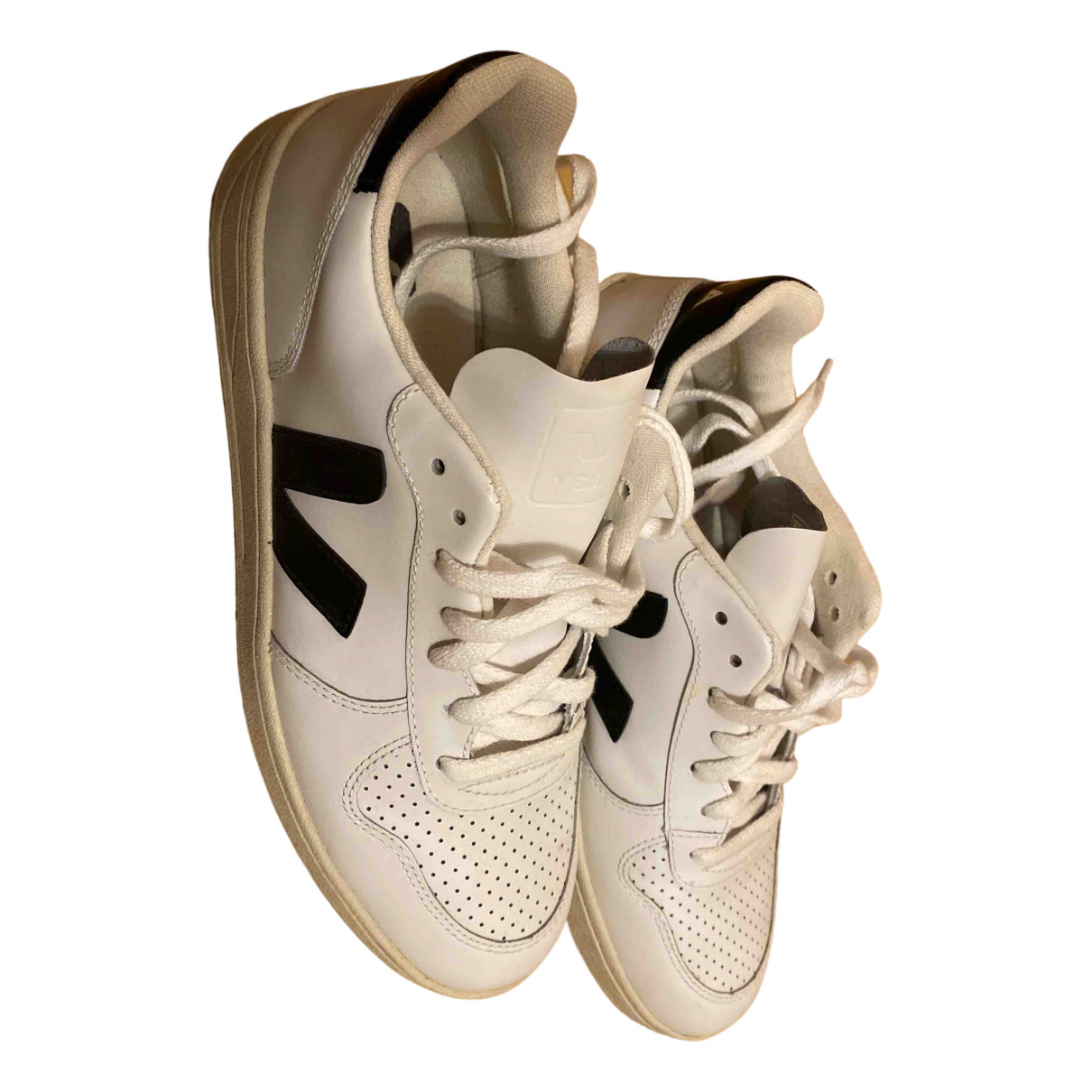 Veja \N White Leather Trainers for Women 40 EU