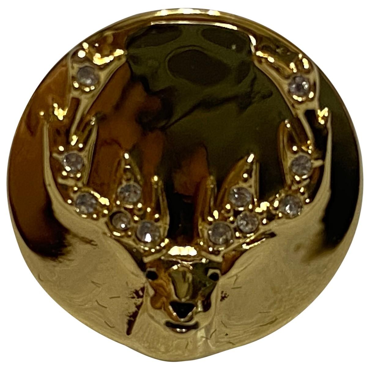 Broche en Metal Dorado Swarovski
