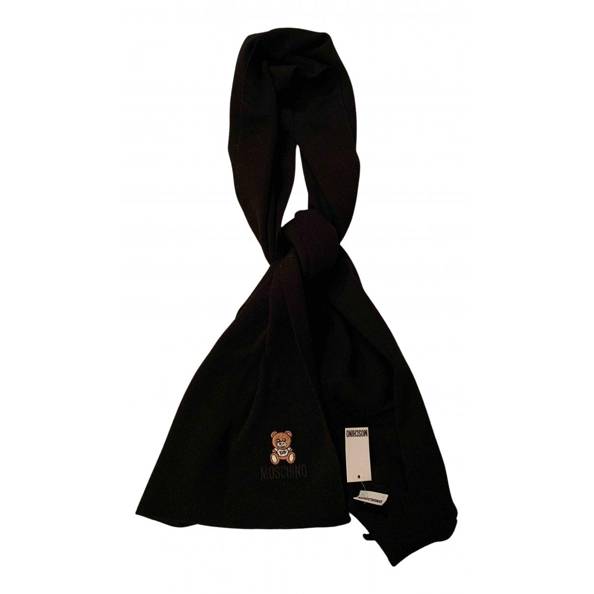 Moschino \N Schal in  Schwarz Wolle