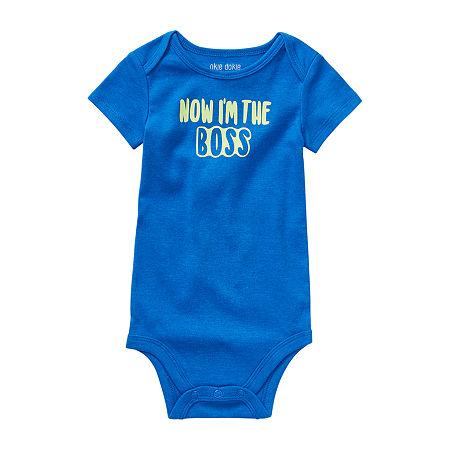 Okie Dokie Boss Baby Unisex Bodysuit, 6 Months , Blue