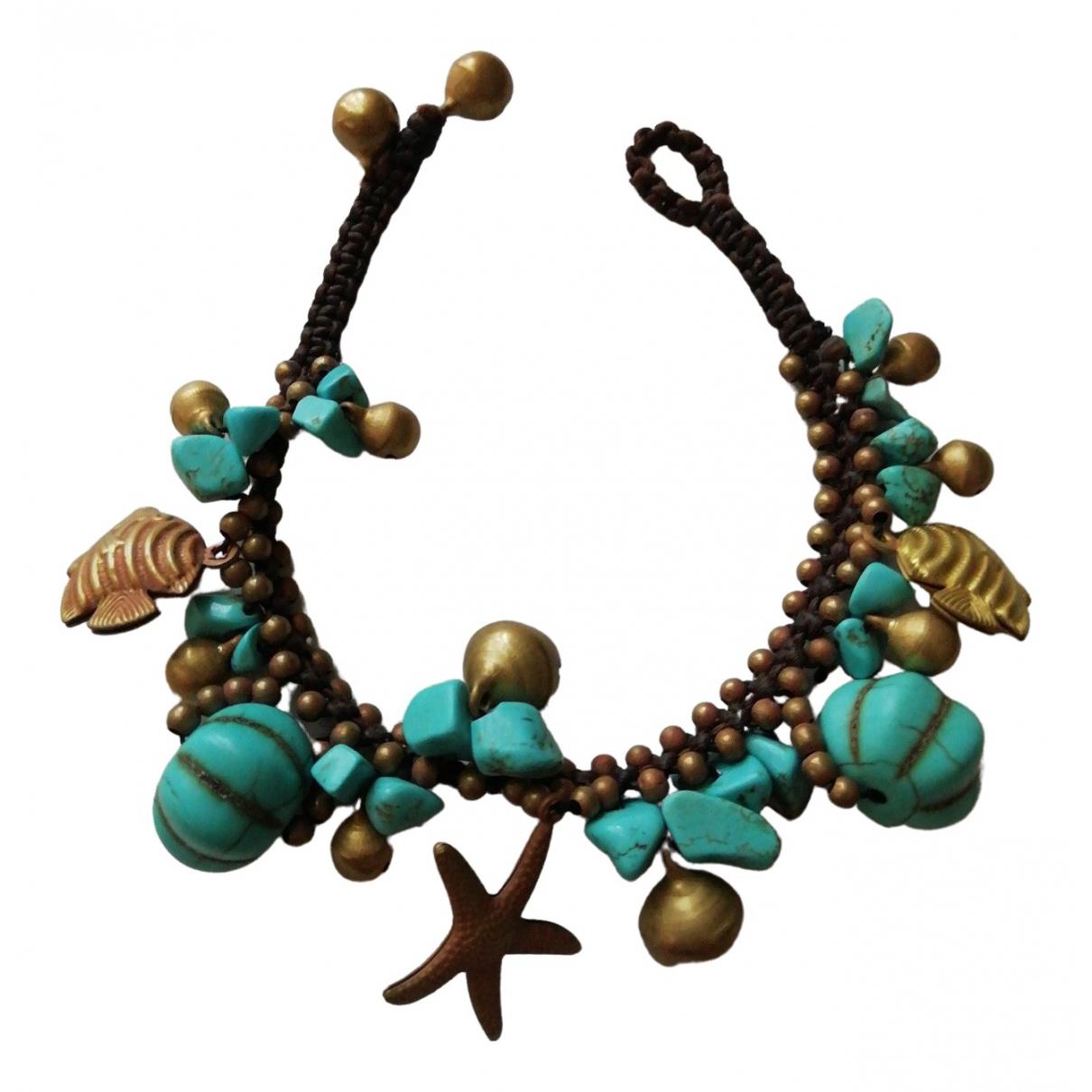 - Bracelet Turquoises pour femme en metal - multicolore