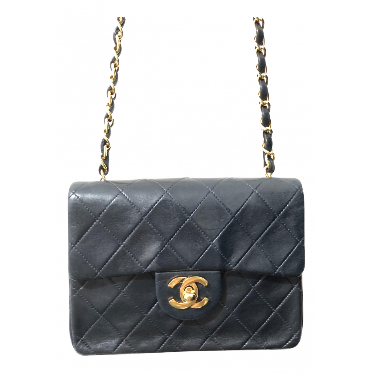 Chanel Timeless/Classique Navy Leather handbag for Women N