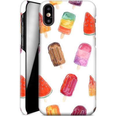 Apple iPhone XS Smartphone Huelle - Ice Lolly Print von Becky Starsmore