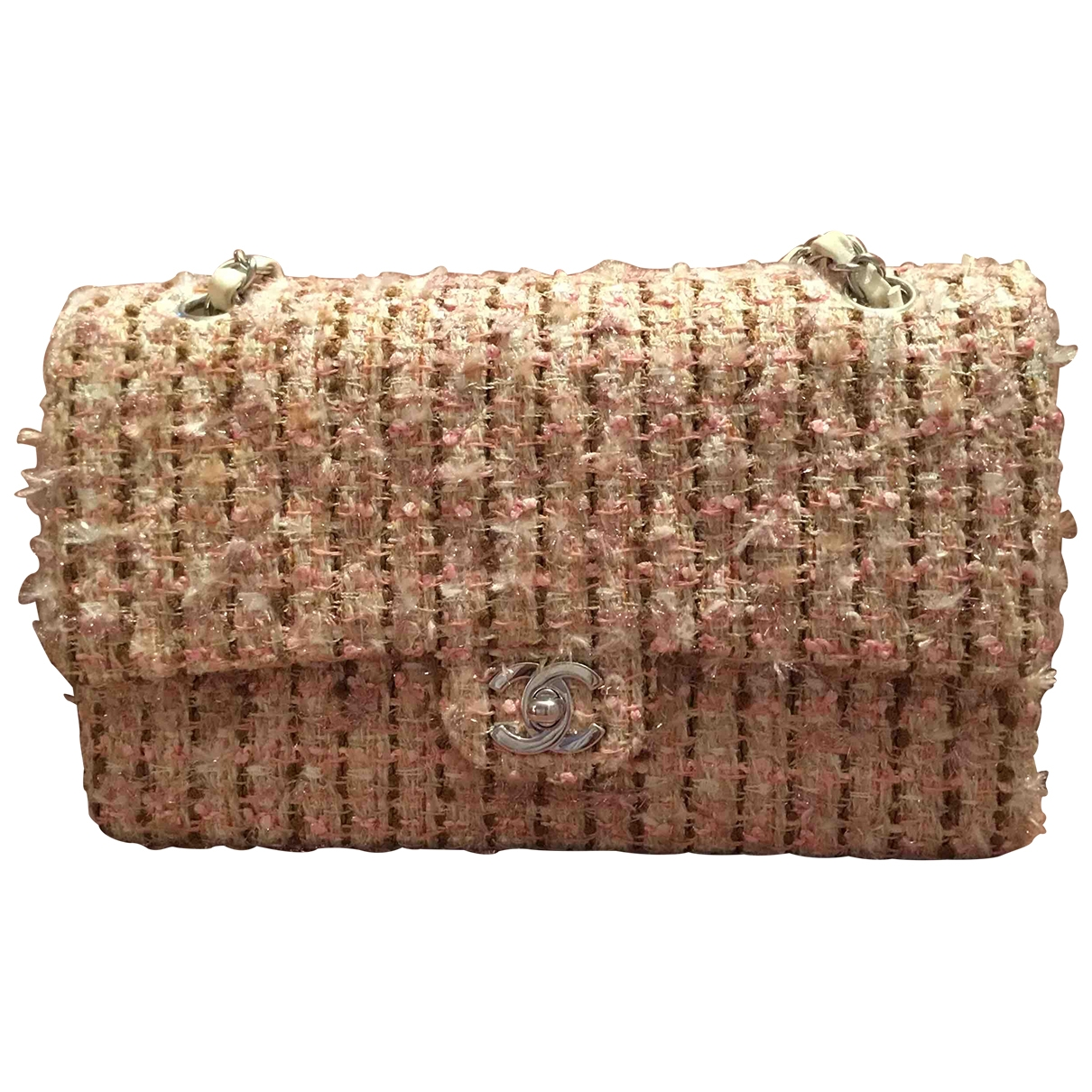 Chanel Timeless/Classique Pink Tweed handbag for Women \N