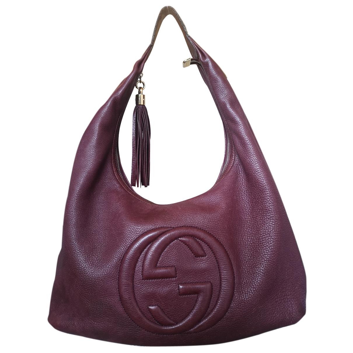 Gucci Soho Burgundy Leather handbag for Women N