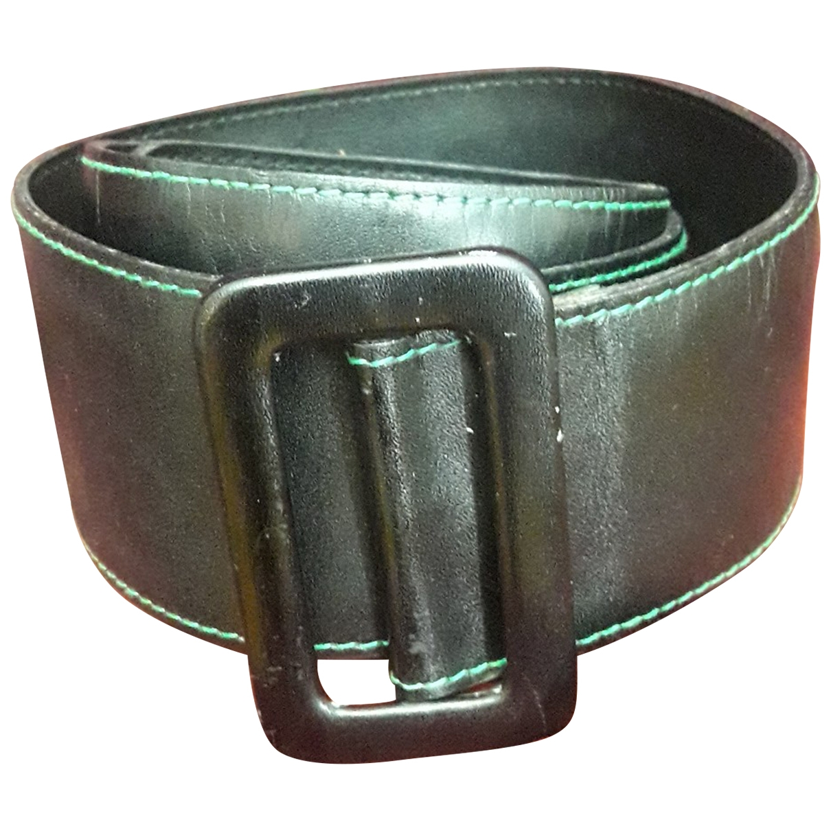 Non Signé / Unsigned \N Black Leather belt for Women 85 cm