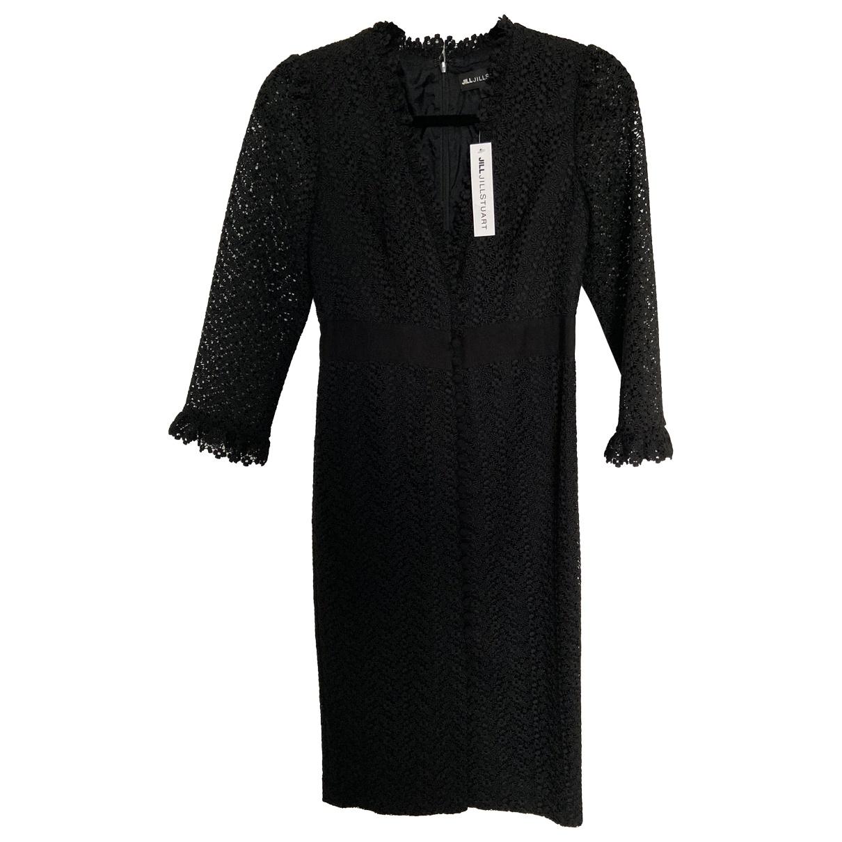 Jill Stuart \N Kleid in  Schwarz Polyester