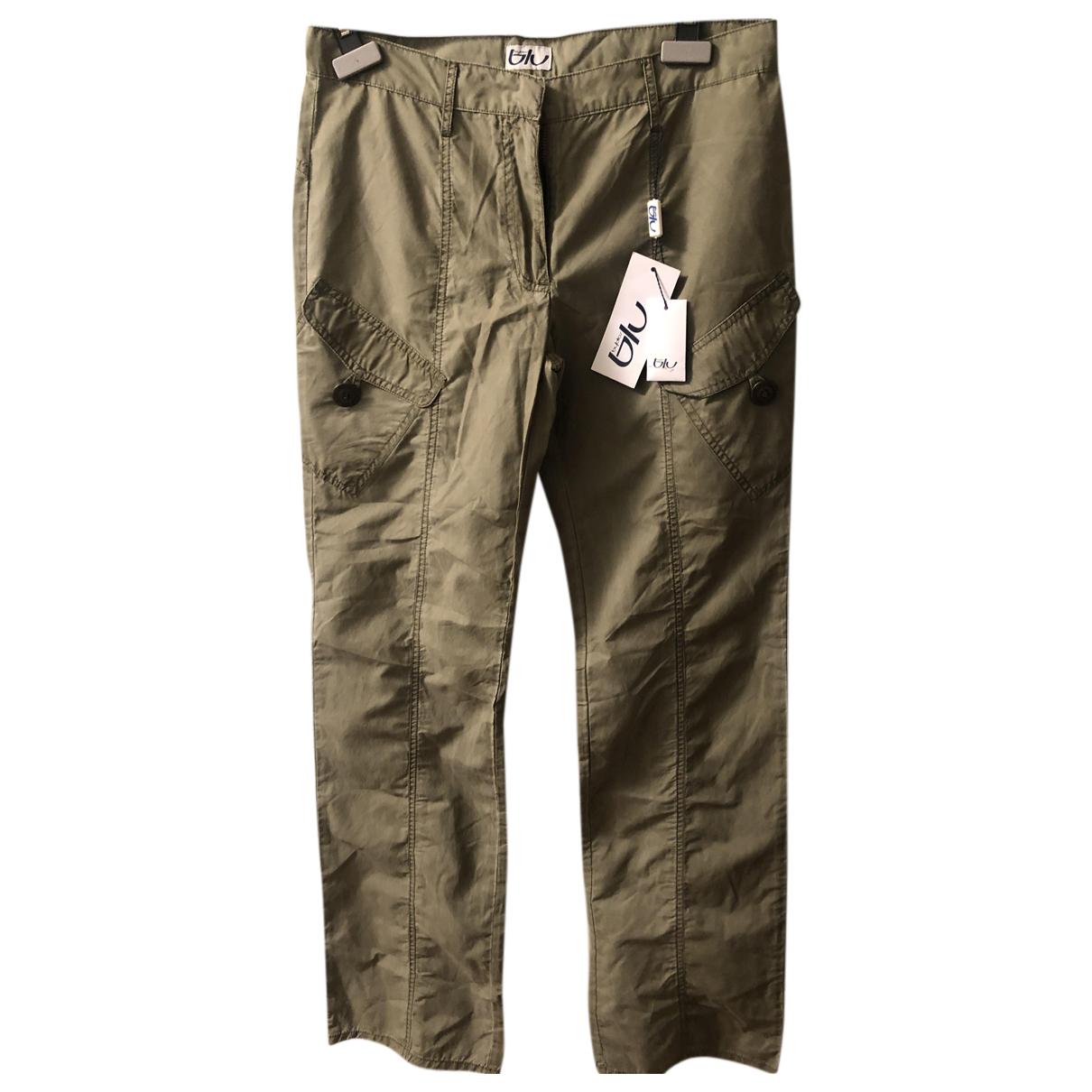 Byblos N Green Cotton Trousers for Women 42 IT