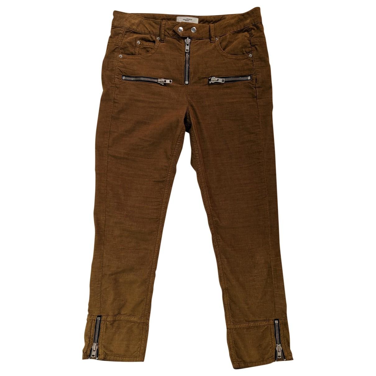 Isabel Marant Etoile \N Camel Cotton Trousers for Women 40 FR