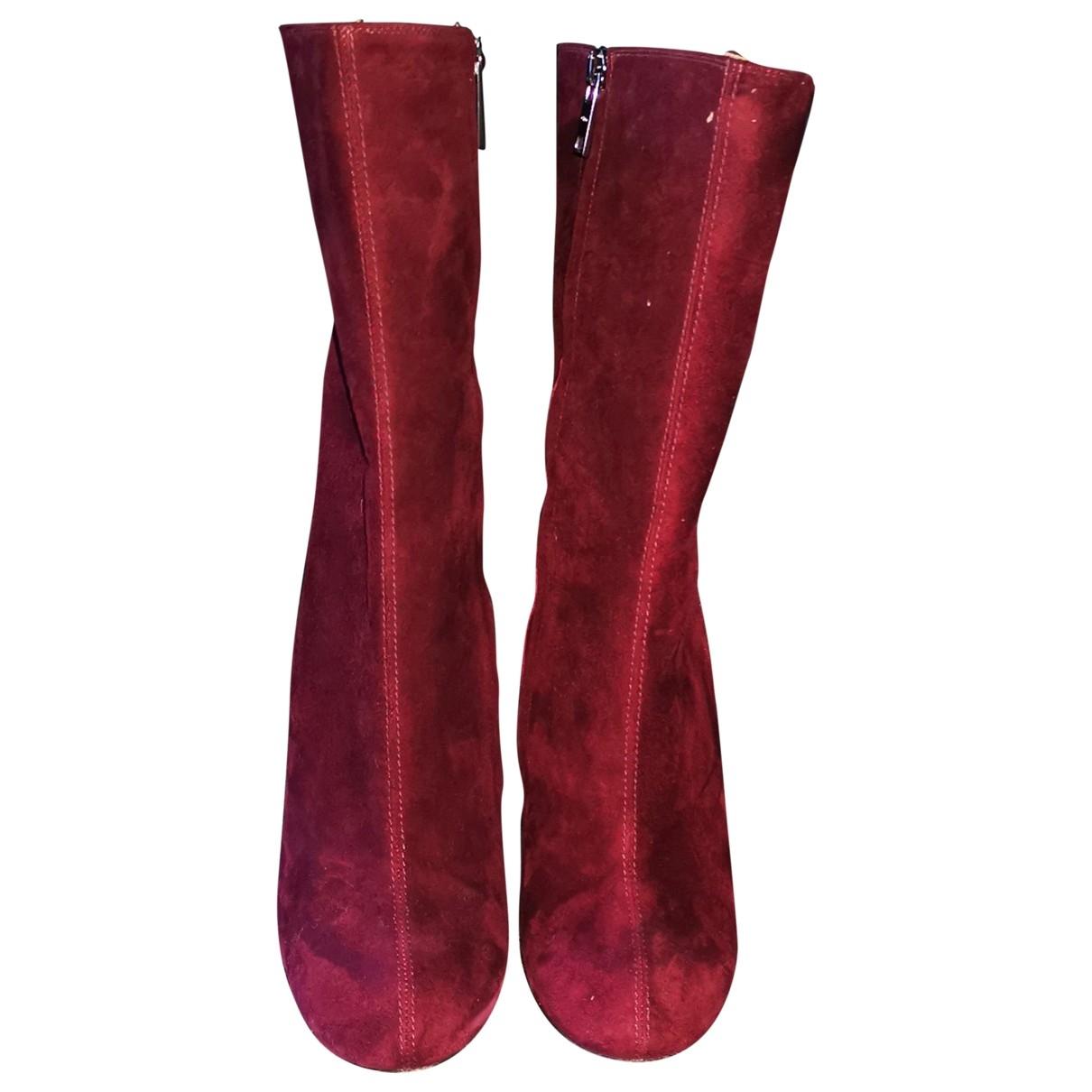 Chloé \N Burgundy Suede Boots for Women 40 EU